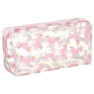 Clear Fashion Pencil Case - Unicorns