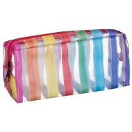 Clear Fashion Pencil Case - Stripes