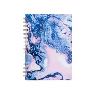 A5 Hardback Notebook - Pink & Blue Swirl