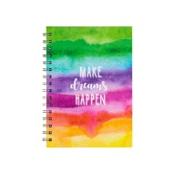A5 Hardback Notebook - Watercolour Stripes
