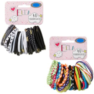 Ella Fashion Elastic Bobbles 40pk - Multi Coloured