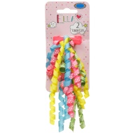 Ella Hair Ribbon Clips 2pk - Pastel Spots