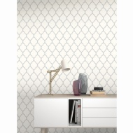 Orient Wallpaper - Silver