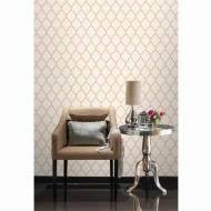Orient Wallpaper - Rose Gold