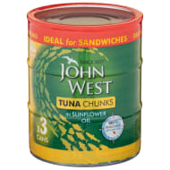John West Tuna in Sunflower Oil 3pk