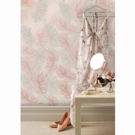 Plume Foil Wallpaper - Rose Gold