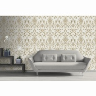 Isabella Damask Wallpaper - Gold