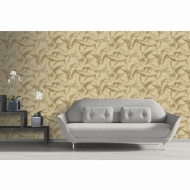 Isabella Plain Wallpaper - Gold