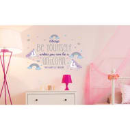 Unicorn Wall Sticker - Be Yourself