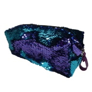 Reversible Sequin Pencil Case - Blue to Purple