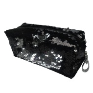 Reversible Sequin Pencil Case - Silver to Black