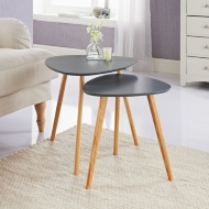 Bjorn Set of 2 Tables - Grey
