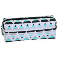 Printed Mix Pencil Case - Mint Geo