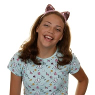 Ella Shaped Headband - Pink Cat Ears