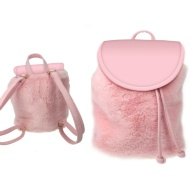 Fluffy Backpack - Pink