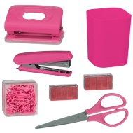 Desktop Stationery Set - Pink