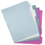 A4 Glitter Subject Dividers 2pk