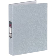 A4 Glitter Ring Binder - Silver