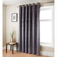 Anastasia Metallic Velvet Curtain 66 x 90