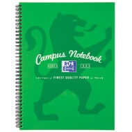 A4 Oxford Campus Notebook - Green