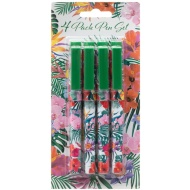 Fashion Ball Pens 4pk - Floral