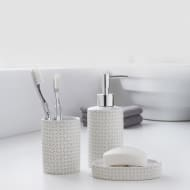 Moroccan Bathroom Set 3pc - White