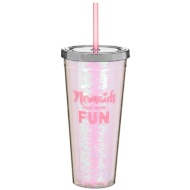 Mermaid Soda Cup - Mermaids Have More Fun Pink