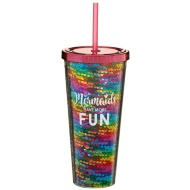 Mermaid Soda Cup - Mermaids Have More Fun Sequins