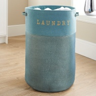 Large Foldable Laundry Hamper - Aqua