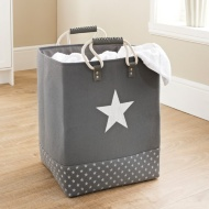 Soft Laundry Bag with Rope Handle - Charcoal