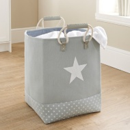 Soft Laundry Bag with Rope Handle - Grey