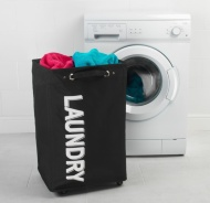 Beldray Laundry Hampers on Wheels - Black