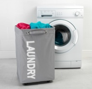 Beldray Laundry Hampers on Wheels - Grey