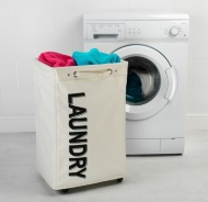Beldray Laundry Hampers on Wheels - Natural