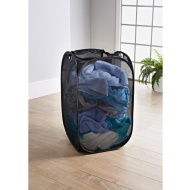 Addis 2-in-1 Pop-Up Laundry Hamper - Black