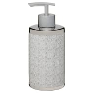 Metallic Printed Soap Dispenser - Silver Spots