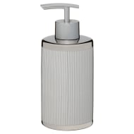 Metallic Printed Soap Dispenser - Silver Stripes
