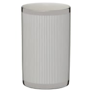 Metallic Printed Tumbler - Silver Stripes