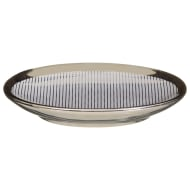 Metallic Printed Soap Dish - Grey Stripes