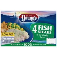 Young's 4 Fish Steaks in Parsley Sauce 560g