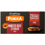 Pukka 2 Minced Beef & Onion Microwave Pies 380g