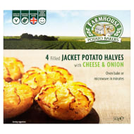 Farmhouse 4 Cheese & Onion Potato Halves 510g