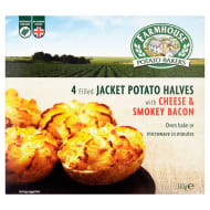 Farmhouse 4 Cheese & Smokey Bacon Potato Halves 510g