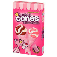 Pink Panther Cones with Sprinkles 21pk