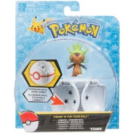 Pokémon Throw n' Pop Poké Ball & Figure - Chespin