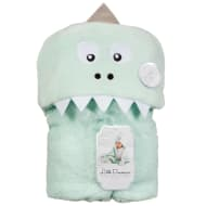 Little Dreams Hooded Sherpa Blanket - Dino