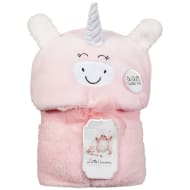 Little Dreams Hooded Sherpa Blanket - Unicorn
