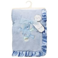 Little Dreams Satin Ruffle Blanket - Blue