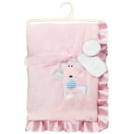 Little Dreams Satin Ruffle Blanket - Pink