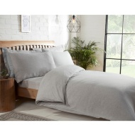 Silentnight Jersey Double Duvet Set - Light Grey